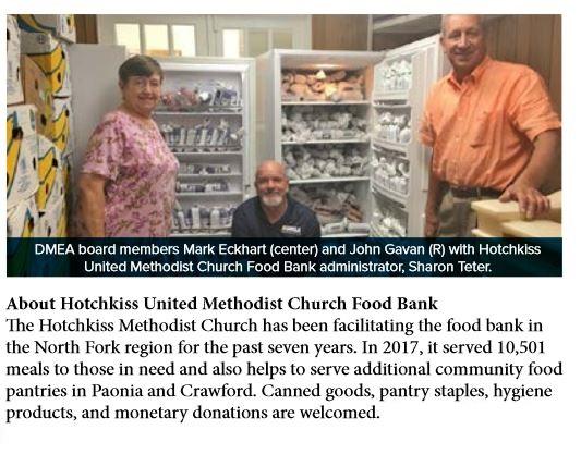 Food Bank - DMEA Donation