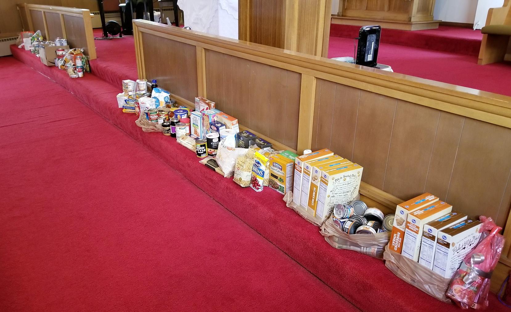 Food Bank - Congregation Donations